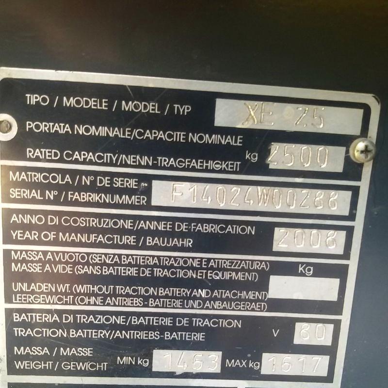 OCASIÓN CARRETILLA ELÉCTRICA 2500 KILOS: Maquinaria de ocasión de Carretillas Elevadoras A.L.A., S.L.