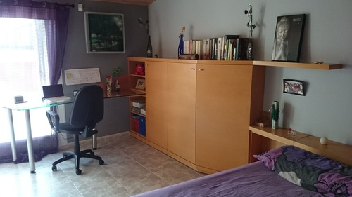 mueble juvenil, zona escritorio.
