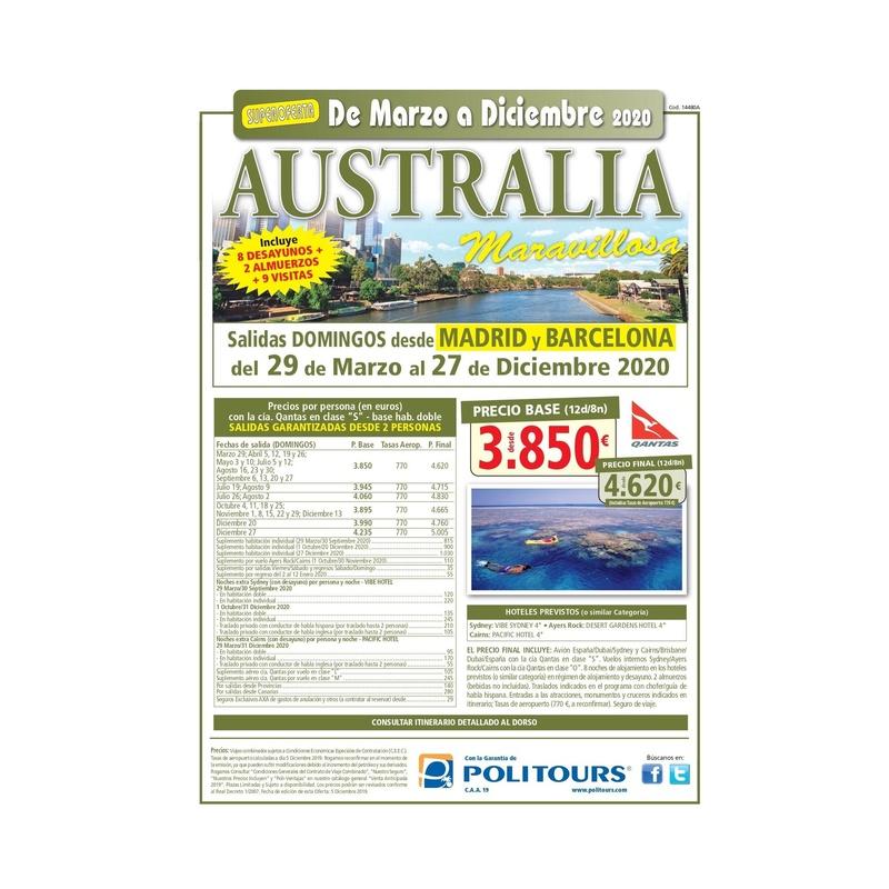 Super oferta  a Australia de Marzo a Diciembre 2020: Contrata tu viaje de Viajes Iberplaya