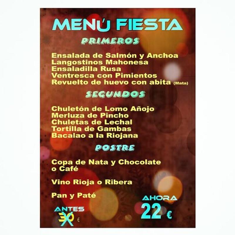 Menú Fiesta:  de Restaurante Bodegón Ciri