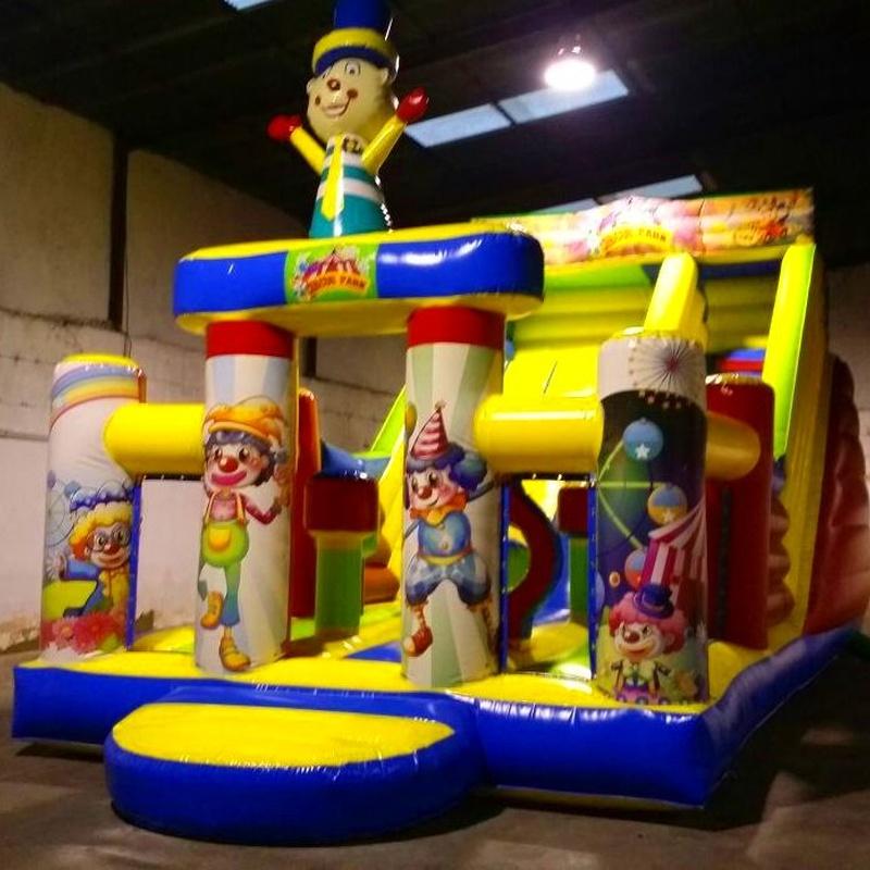 Castillo Hinchable tobogán payaso 3D: Catálogo de Hinchables Happy Jump