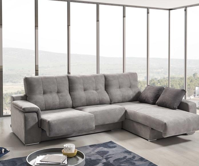 Cheslong Air de 289 cm. Asientos  deslizantes y respaldos reclinables (Arcón en asientos y cheslong)
