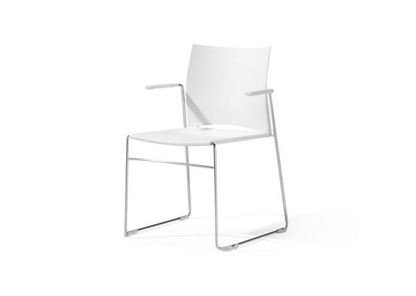 silla linia en color blanco con brazos