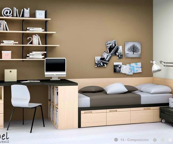 Dormitorio juvenil composición 14