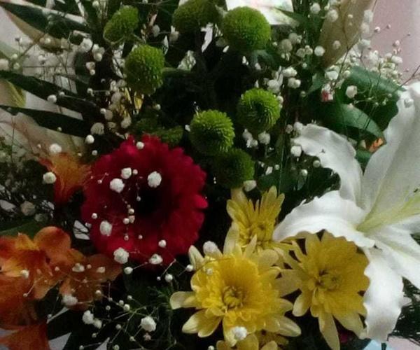 Centros florales de flor natural