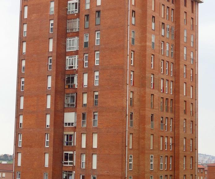 Antes de la rehabilitación de fachadas Santander