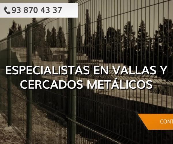 Vallas metálicas en El Vallès