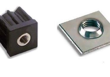 casquillos y placas soldables para tubo cuadrado