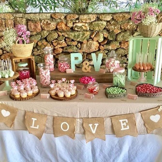 Poned una mesa dulce en vuestra boda