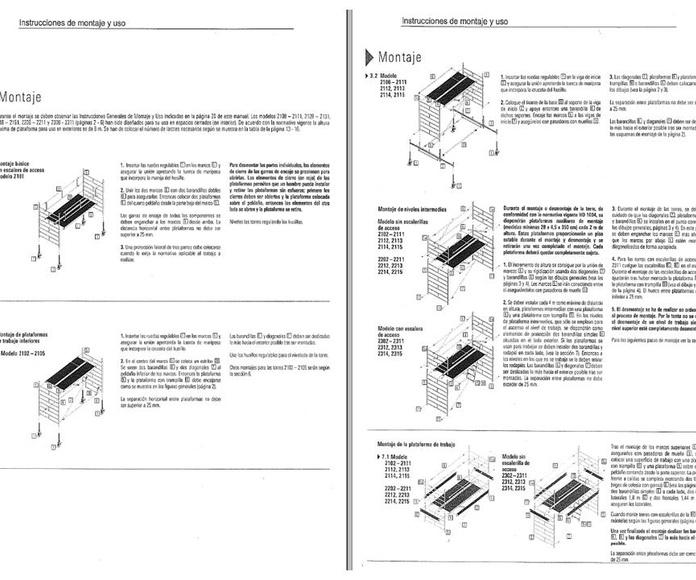 Manual de Montaje y Uso : Andamios  de Rent Andamios y Casetas.