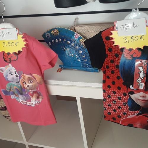 Camisetas Paw Patrol y Lady bug en oferta hasta que se terminen