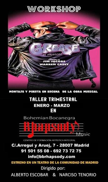 """Workshop """"GREASE"""" (Montaje de una obra musical): Catálogo formación de Bohemian Bocanegra Rhapsody Music"""