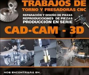 Trabajos de torno y fresadoras CNC