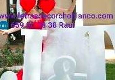 LETRAS DE CORCHO BLANCO BARATAS