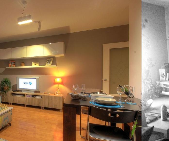 ALIVA Reforma de estar-comedor, dormitorio y baño: Servicios y Proyectos de XTE INTERIORISMO