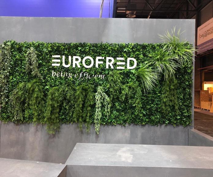Jardin vertical artificial eventos ifema empresa eurofred