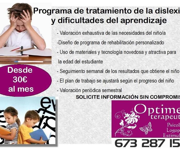 Terapia contra la Dislexia - Optimes Terapeutes