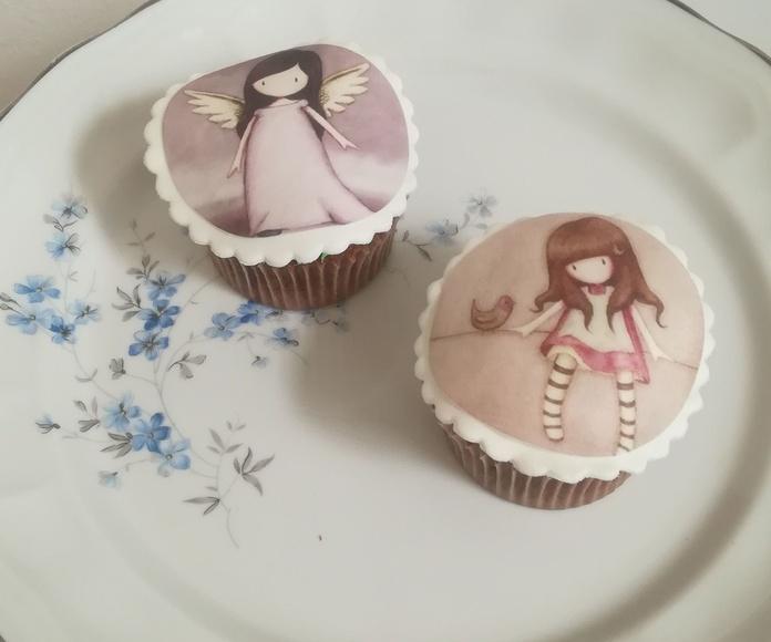 cupcake gorjuss con fotoimpresión