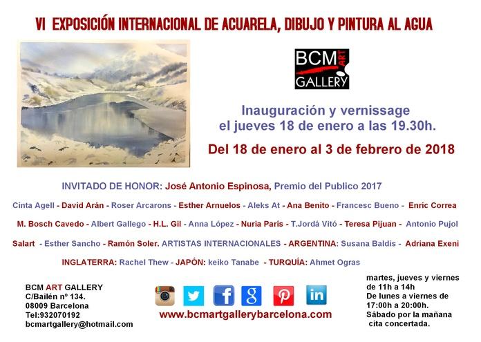 VI EXPOSICIÓN INTERNACIONAL DE ACUARELA, DIBUJO Y PINTURA AL AGUA: Exposiciones y artistas  de BCM Art Gallery