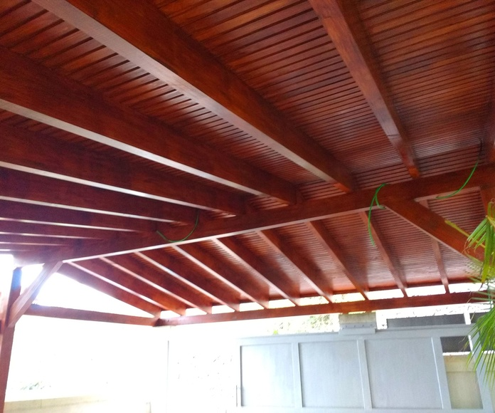 Porche Garaje madera a medida