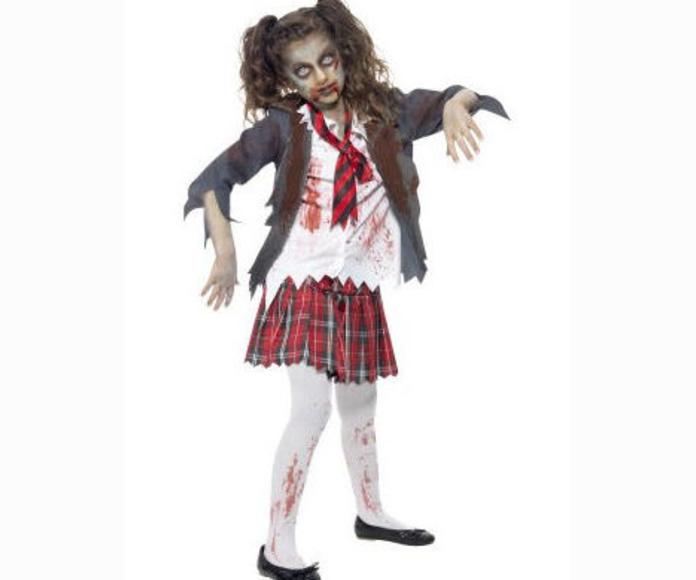Disfraz colegiala zombie