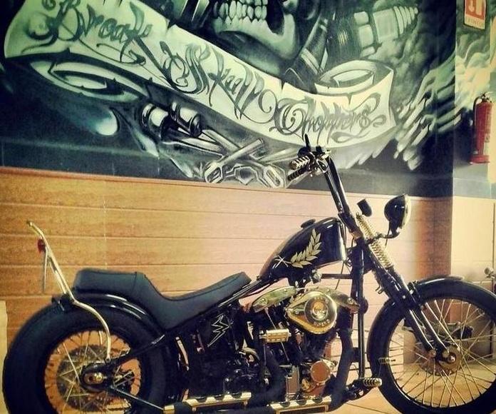Break Skull Choppers, Construcción motos custom, Personalización motos custom, Restauración motos custom, Transformación motos custom, Reparación de motos custom, Harley Davidson, Motos clásicas