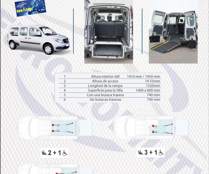Rebaje de piso Mercedes Benz Citan 1.3 cajeado adaptación de vehículos Avilés