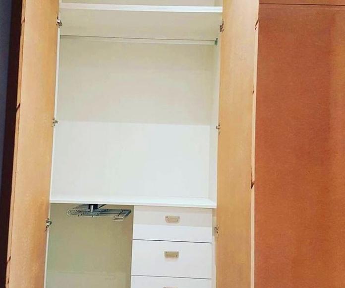Parte interior armario