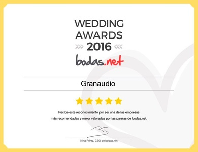 Granaudio obtiene un premio Wedding Awards 2016