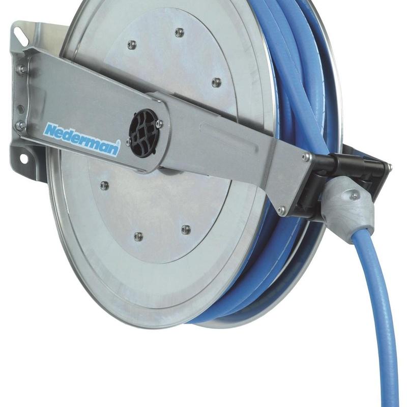 Enrollador de manguera 888 en acero inoxidable: Productos de E.T.I.S.A. Exclusivas Técnicas Industriales, S.A.