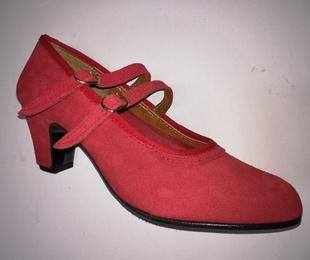 Zapato piel ante rojo Modelo 24