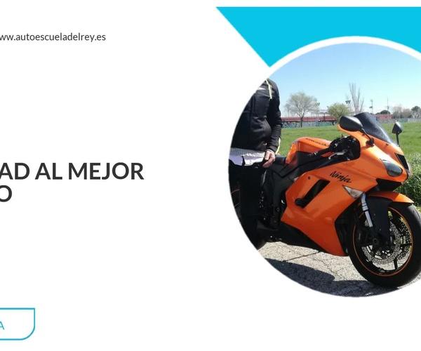 Carnet de moto barato en Madrid centro | Autoescuela del Rey