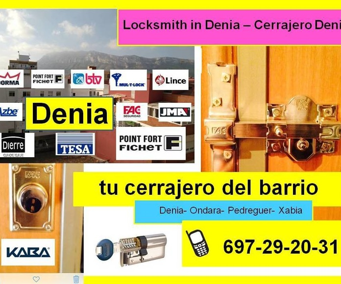 Cerrajero Denia, Cerrajero Ondara, Cerrajero Xabia, Cerrajero El Vergel, Cerrajero La Xara, Locksmith in Denia, Locksmith in Ondara, Locksmith in Xabia, Locksmith in Pedreguer, Locksmith in El Vergel