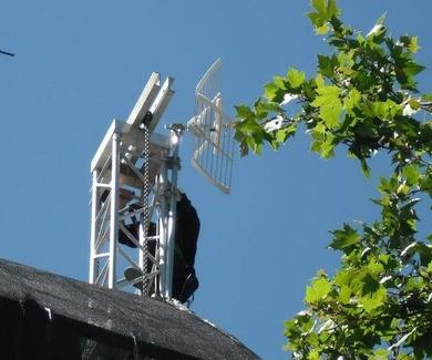 Antenas de televisión en Cuatro Vientos