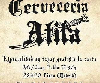 Menú especial: Servicios de Cervecería Atila