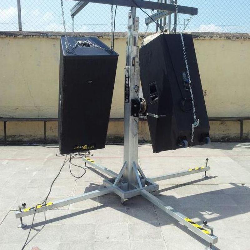 Escenario y estructuras: Servicios   de GranAudio