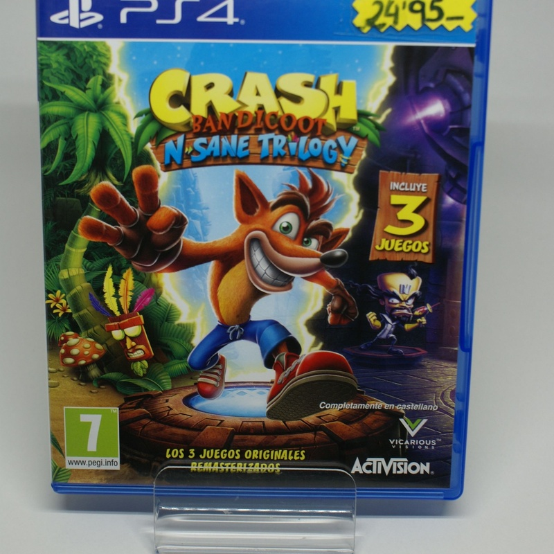 PS4 CRASH BANDICOOT N. SANE TRILOGY: Compra y Venta de Ocasiones La Moneta