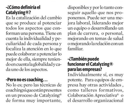 Entrevista La Vanguardia 12 Julio'13 - CATALYZING®