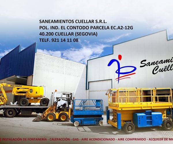 Alquiler de maquinaria de construcción en Cuéllar, Segovia