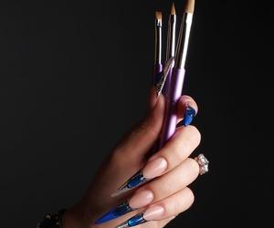 uñas acrílicas Stiletto Natali nail art studio