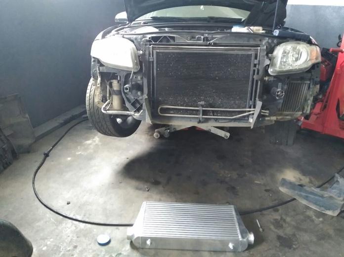 Instalación intercooler Audi A4 TDI 140 CV.