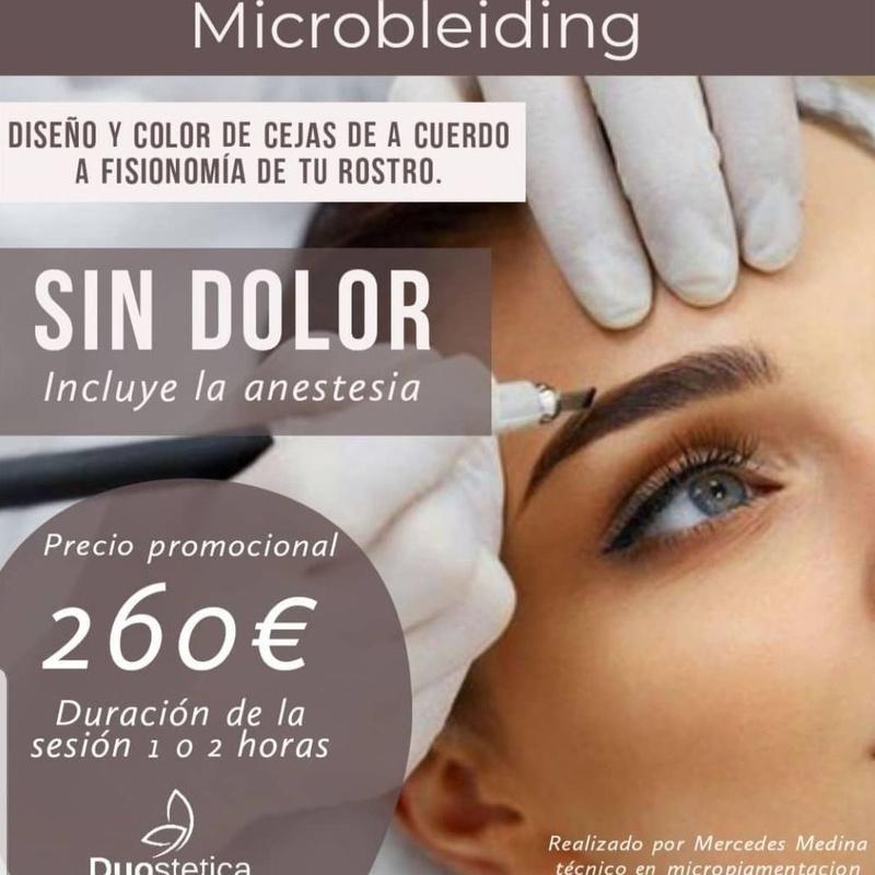 Micropigmentacion y microblanding en cejas.: Servicios de Duo Stetica