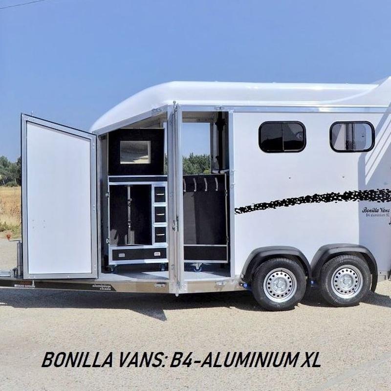 BONILLA VANS, REMOLQUE PARA DOS CABALLOS B4-ALUMINIUM XL