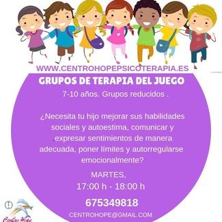 Grupos de Terapia del Juego para niños.