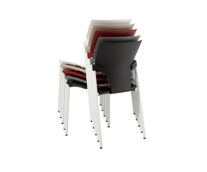 silla fija modelo evelin apilable en diferentes colores