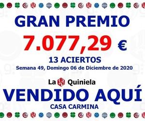 Premio 13 Aciertos en la Quiniela de fútbol semana 49 del día 6 de diciembre del 2020