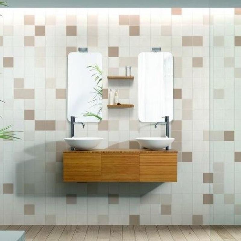 Mueble de baño Vidrebany colección Cube modelo Bambu
