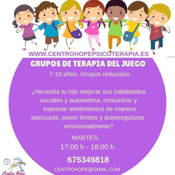 Grupos terapias de juego niños