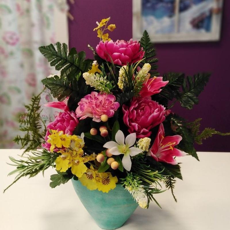 Centro artificial: Nuestras flores de Bouquet Flores y Plantas