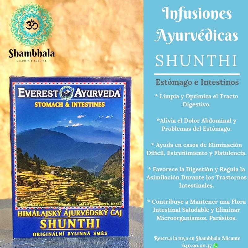 Shunthi Infusión Ayurvédica Alicante Shambhala Samskara